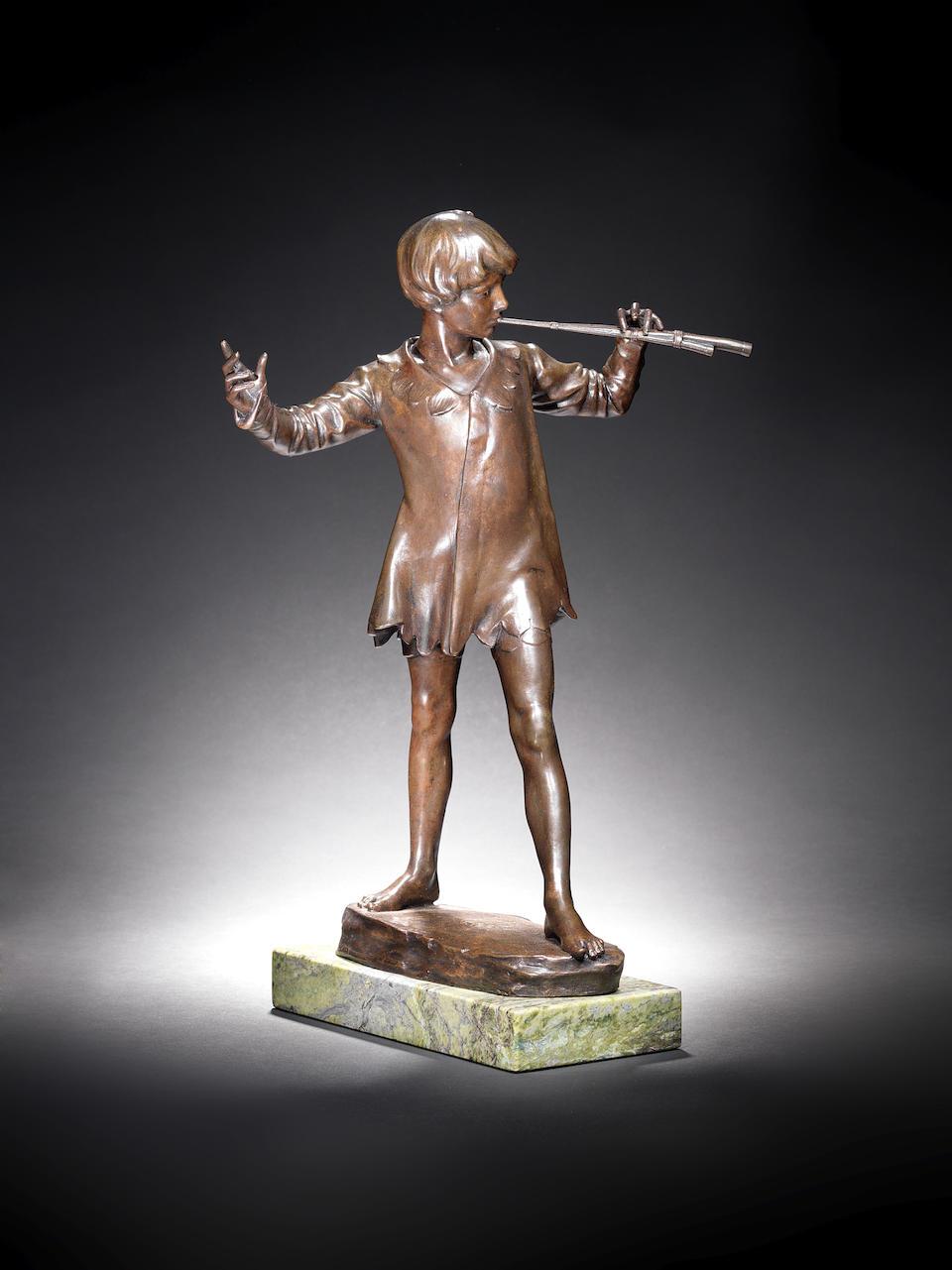 Sir George James Frampton, English (1860-1928) A Bronze Figure of Peter Pan