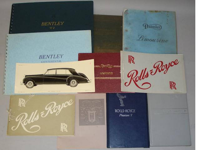 Assorted handbooks and sales brochures,