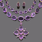 A late 19th century amethyst parure (5)