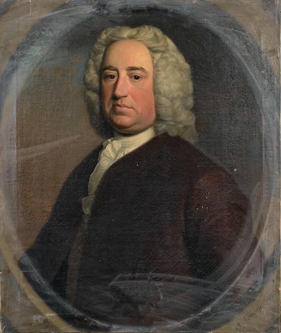 Circle of Allan Ramsay (Edinburgh 1713-1784 Dover) Portrait of Philip Ward,