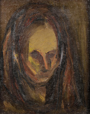 David Bomberg, 'Portrait of Lilian', oil on canvas
