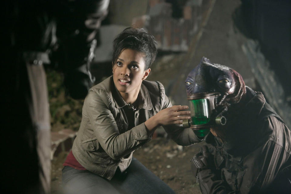 The Doctor's Daughter, May 2008 Martha Jones (Freema Agyeman), a complete broken down costume, 3
