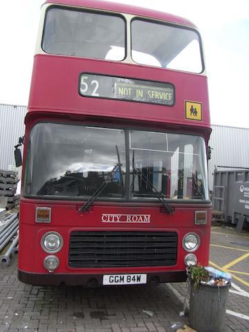 Planet of the Dead, April 2009 A Red/ Cream Bristol(BLMC) Double Decker bus,