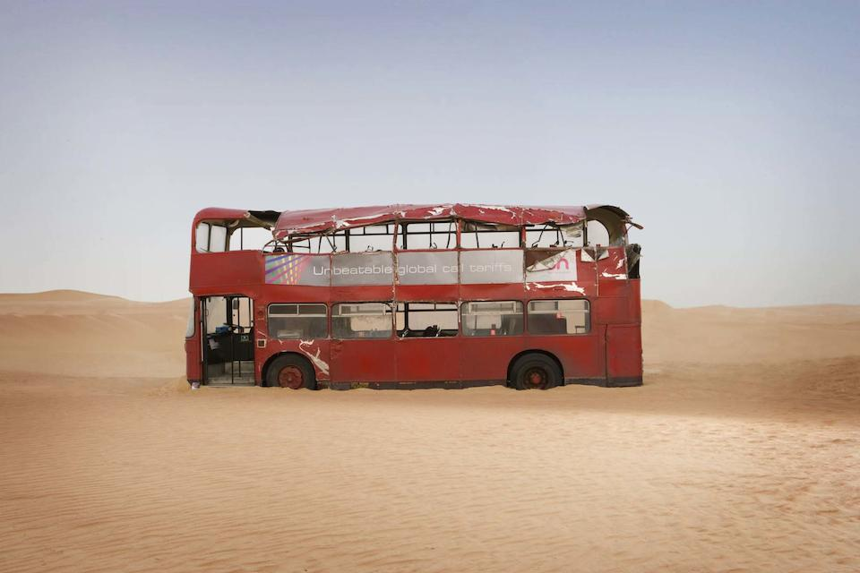 Planet of the Dead, April 2009 A Red/ Cream Bristol (BLMC) Double Decker bus,