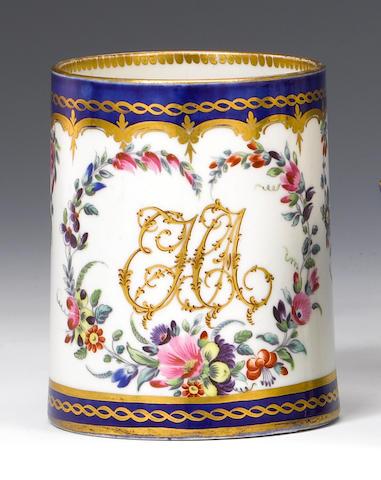 A good Worcester small mug circa 1785