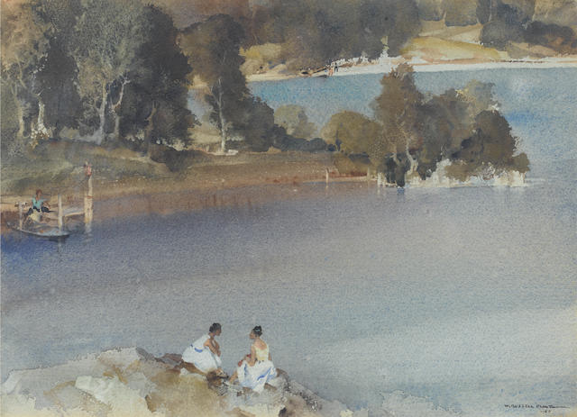 Sir William Russell Flint R.A., P.R.W.S. (British, 1880-1969) Peninsula In Arcady 27 x 37 cm. (10 1/2 x 14 1/2 in.)