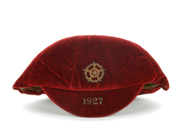 1927 England International Cap awarded to Jimmy Seddon