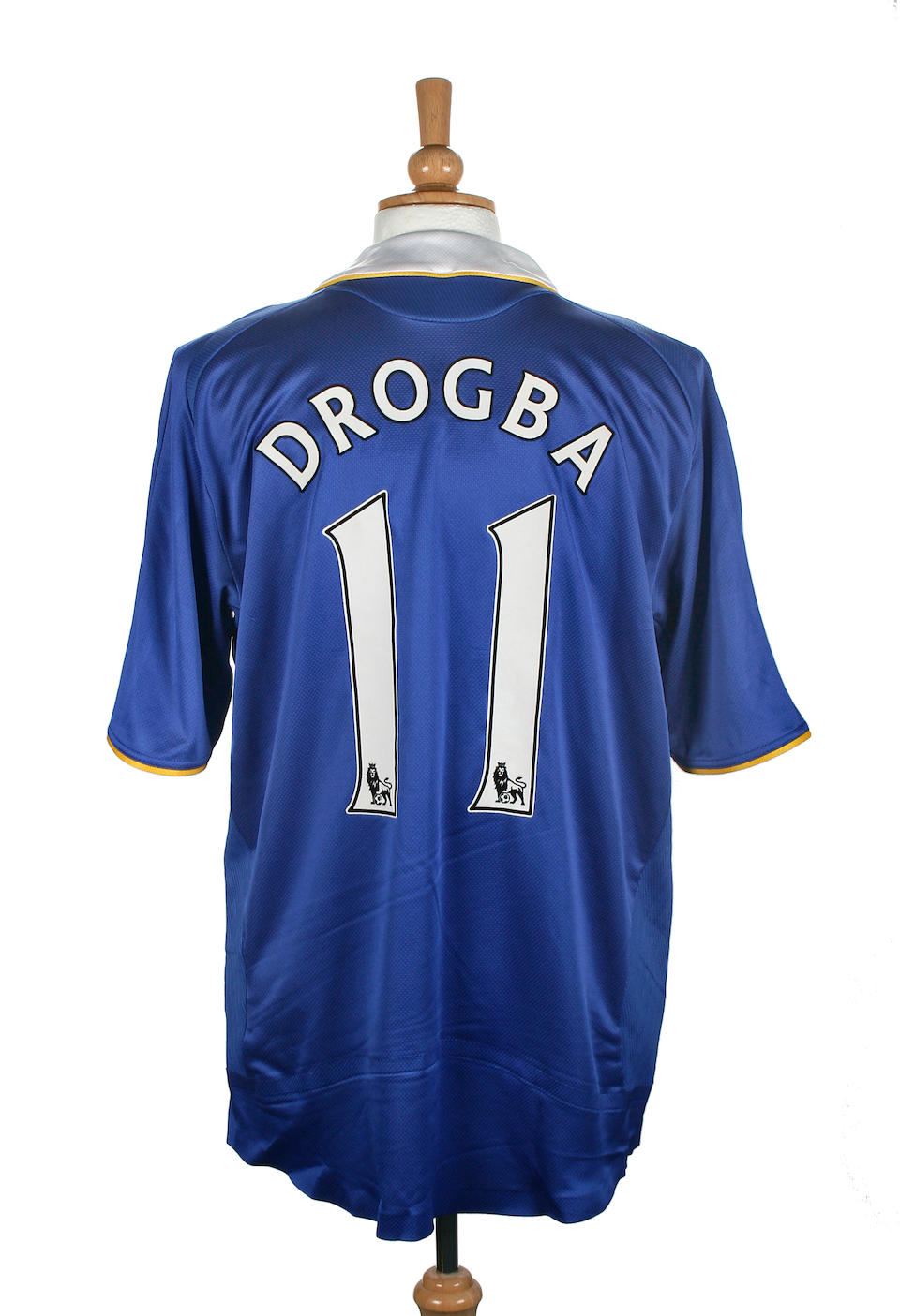 uk availability be6fd fd957 Bonhams : Drogba match worn Chelsea shirt