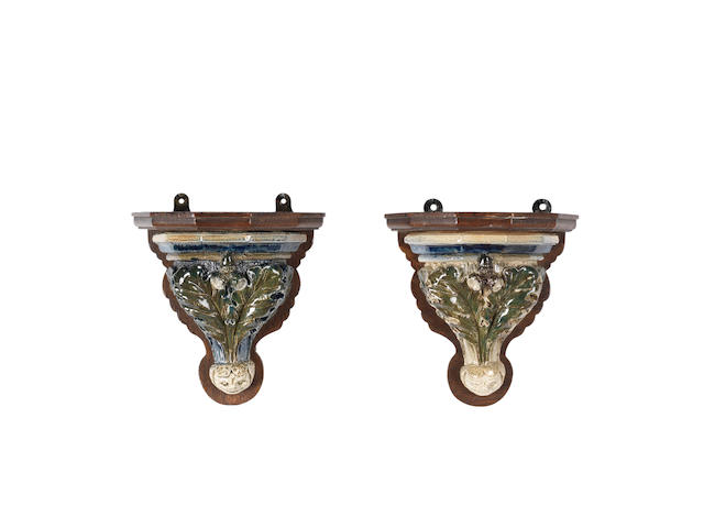 Robert Wallace Martin A pair of stoneware Wall Brackets, 1877