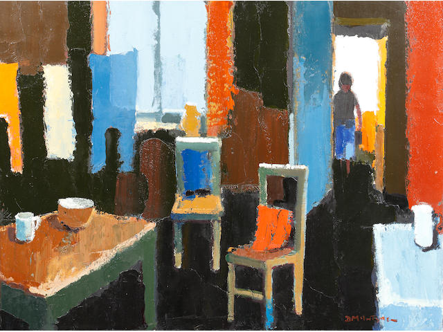 Donald McIntyre (British, 1923-2009) 'Coming into the kitchen'
