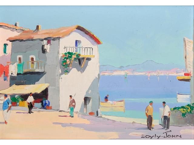 D'Oyly John (British, 1906-1993) 'Santa Margarita near Rapallo, Italian Riviera',