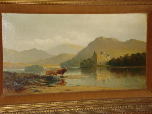 John Davison Liddell (British, 1859-1942) 'Kilchurn Castle, Loch Awe',
