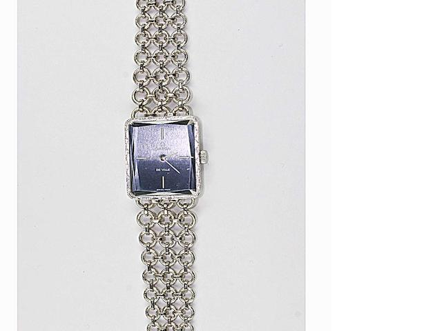Omega de Ville: An 18ct white gold lady's wristwatch