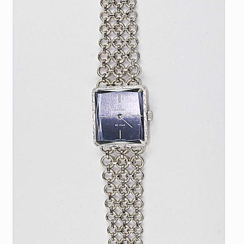 Omega de Ville: An 18ct white gold lady's wristwatch