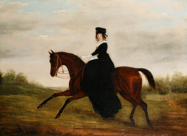 James (of Bath) Loder (British, 1784-1860) An elegant lady on horseback