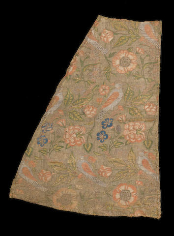 An exquisite Safavid woven silk and gilt-metal-thread Panel Persia, 17th Century