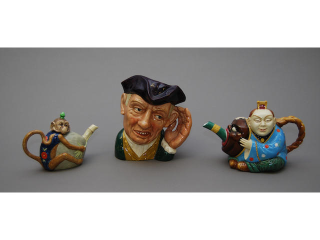 Two Royal Doulton models of Minton teapots