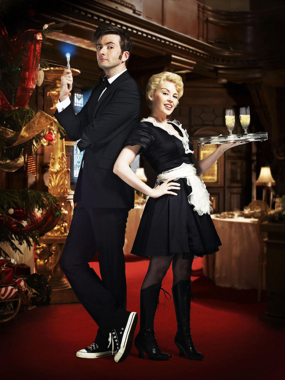Voyage of the Damned, December 2007 Astrid Peth (Kylie Minogue), a complete waitress costume, comprising;