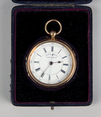 An 18ct gold chronometer pocket watch Won by Frederick Bullen, 1896