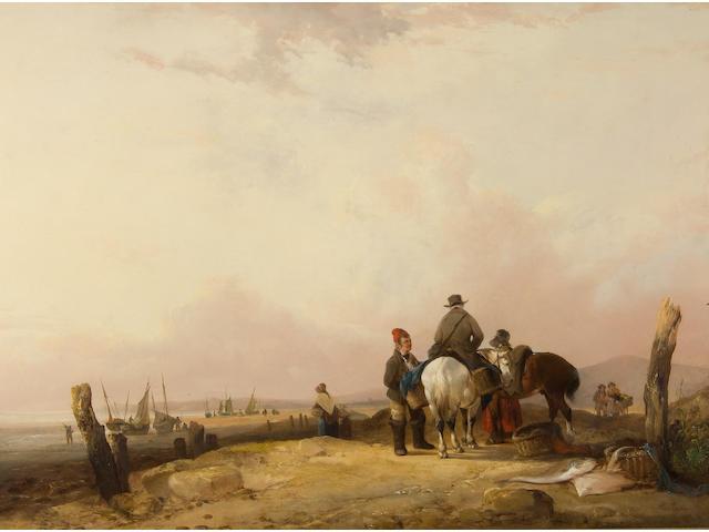 William Shayer, Snr. (British, 1787-1879) Fisherman's Beach, Scotland,