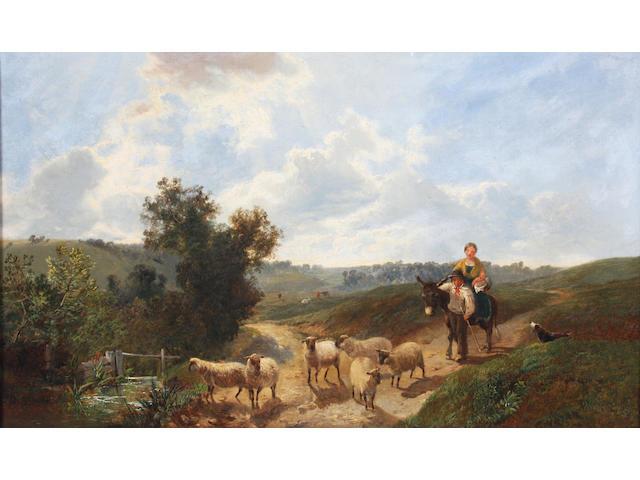 Circle of George Vicat Cole (British, 1833-1893) 30 x 50.5cm.