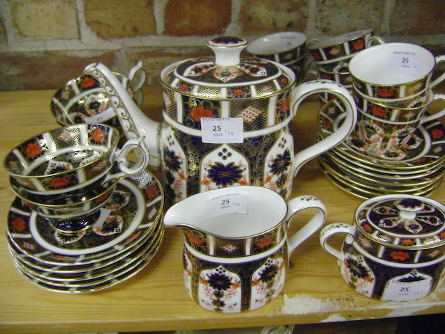 A Royal Crown Derby part tea service