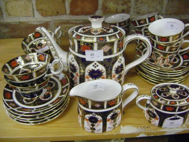 A Royal Crown Derby part tea service
