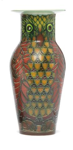 A Sally Tuffin 'Owl' etruscan Vase Dated 2005