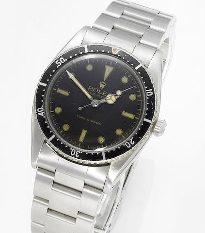 Rolex. A fine and rare stainless steel automatic centre seconds wristwatch Turn-O-Graph, Ref:6202. Made in 1953