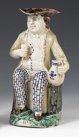 A fine Staffordshire pearlware Sailor Toby Jug circa 1790