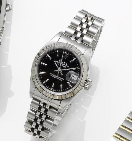 Rolex. A lady's stainless steel manual wind bracelet watchRef.61974, Sold 23rd December 1987