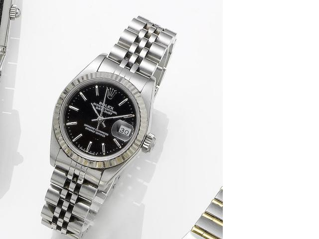 Rolex. A lady's stainless steel manual wind bracelet watch Ref.61974, Sold 23rd December 1987