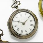William Hutchinson. A late 18th century silver pair cased pocket watch Movement number 1778