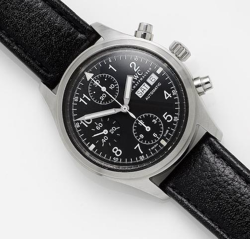 IWC. A fine stainless steel automatic chronograph calendar wristwatch Fliegerchronograph, Case No.2780662, Sold in 2004