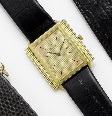 Piaget. An 18ct gold manual wind wristwatch 1980's?