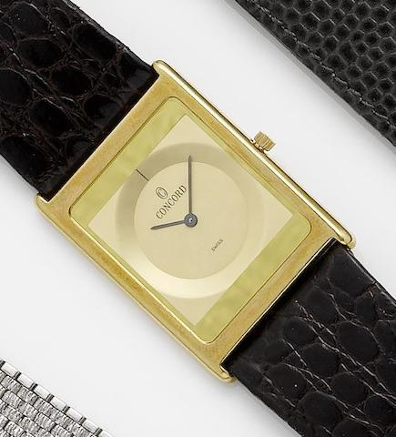Concord. An 18ct gold quartz wristwatchRecent