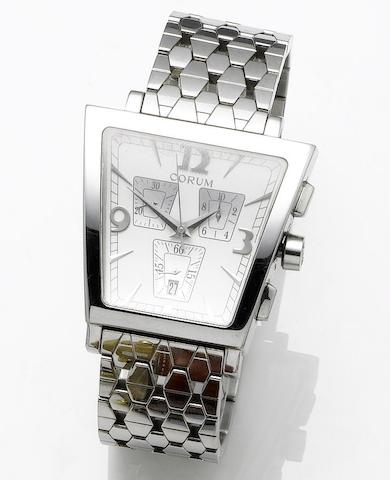 Corum. A quartz stainless steel chronograph calendar bracelet watch