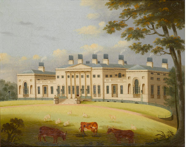 An early C19th oil on canvas of Harewood House