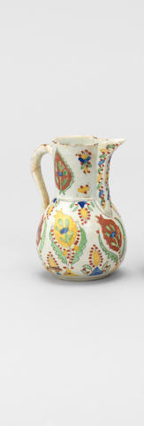 Two Kutahya painted pottery Vessels Turkey, first half of 18th Century(2)