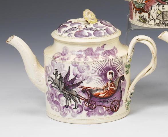 A William Greatbatch creamware teapot and cover circa 1775