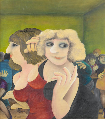 Beryl Cook (British, 1926-2008) Two Girls at a Dance 68.5 x 61 cm. (27 x 24 in.)