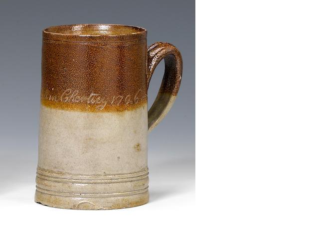 A saltglaze tavern mug