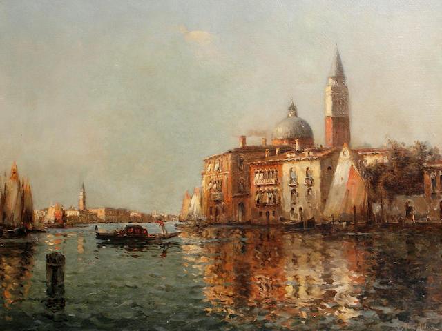 Marc Aldine (French, 1870-1956) A Venetian scene