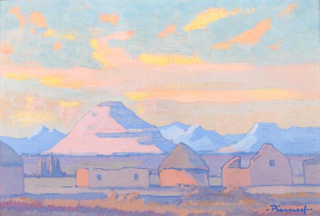 Jacob Hendrik Pierneef (South African, 1886-1957) South West African kraal