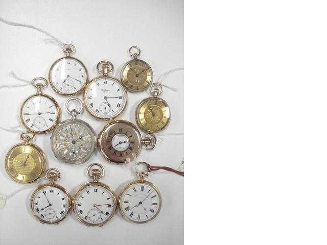 A lot of various gold and silver pocket watches