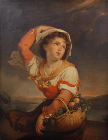 Giuseppe Mazzolini (Italian, 1806-1876) The approaching storm
