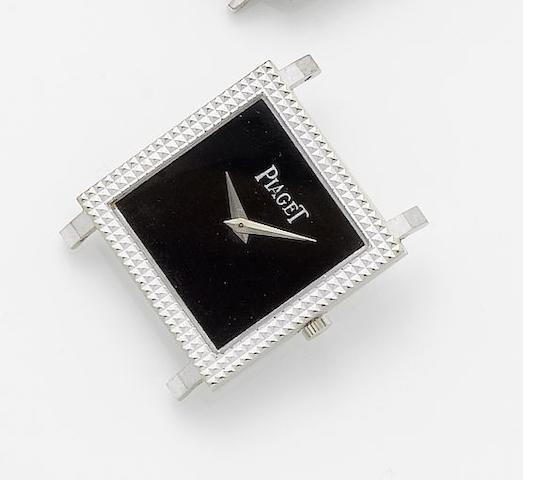 Piaget. A lady's 18ct white gold manual wind wristwatch