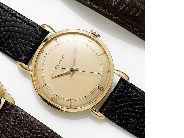 Jaeger LeCoultre. A 14ct rose gold manual wind centre seconds wristwatch 1950's