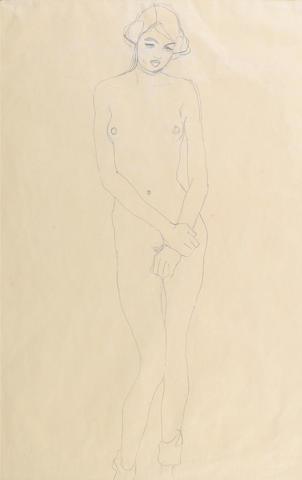 Gustav Klimt Stehender Maedchenakt, 1911 pencil on paper 56 x 35.5cm