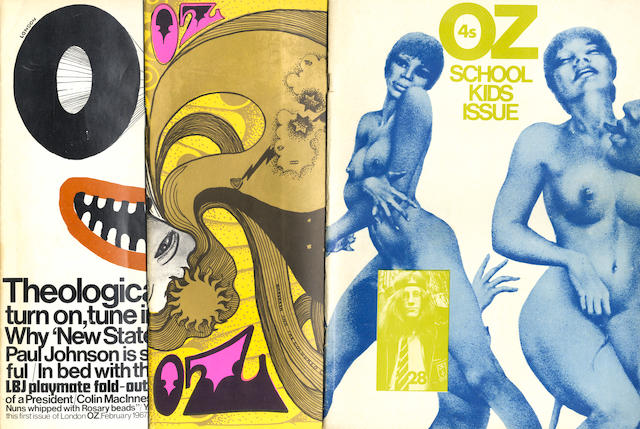OZ MAGAZINE A complete run of the 48 issues of the London edition
